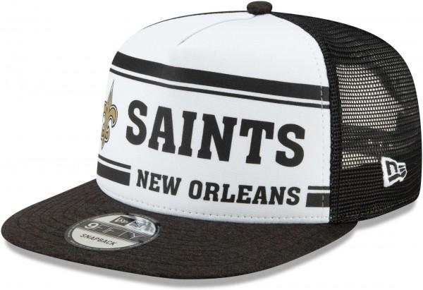 New Era - NFL New Orleans Saints On Field 2019 Sideline Home 9Fifty Snapback Cap - Mehrfarbig Ansicht schräg links