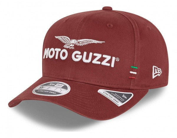 New Era - Moto Guzzi Washed Cotton 9Fifty Snapback Cap - Rot Ansicht vorne schräg links
