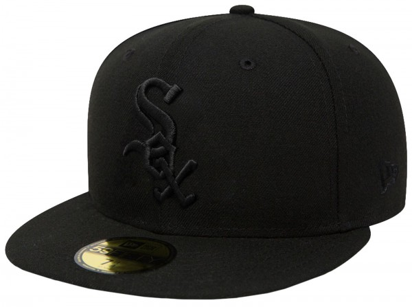 New Era - MLB Chicago White Sox Black On Black 59Fifty Cap - Schwarz