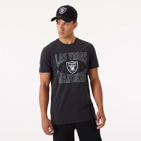 New Era - NFL Las Vegas Raiders Team Logo T-Shirt - Grau Vorderansicht