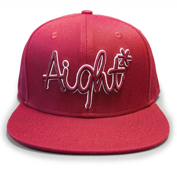 Aight* - OG Logo Embroidered Outline Snapback Cap - Rot Vorderansicht