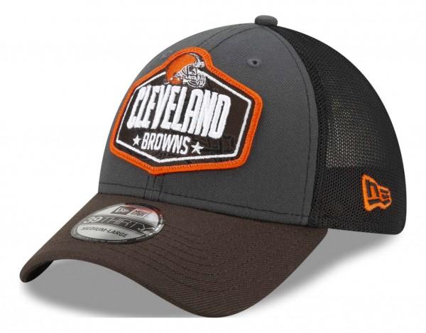 New Era - NFL Cleveland Browns 2021 Draft 39Thirty Trucker Stretch Cap - Mehrfarbig Ansicht vorne schräg links