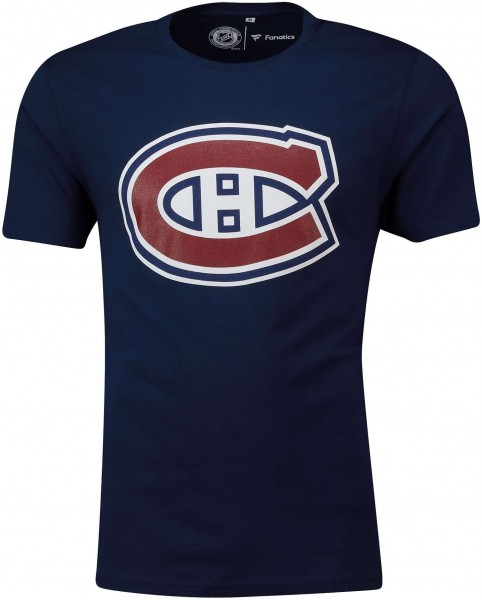 Fanatics - NHL Montreal Canadiens Secondary Core Graphic T-Shirt - Blau Vorderansicht
