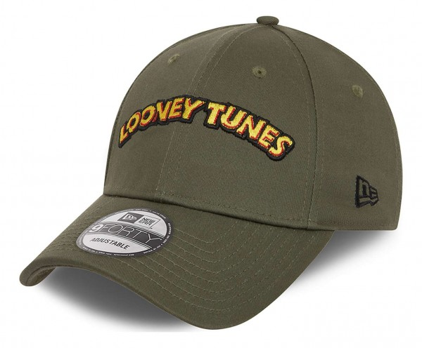 New Era - Looney Tunes 9Forty Strapback Cap - Grün Ansicht vorne schräg links