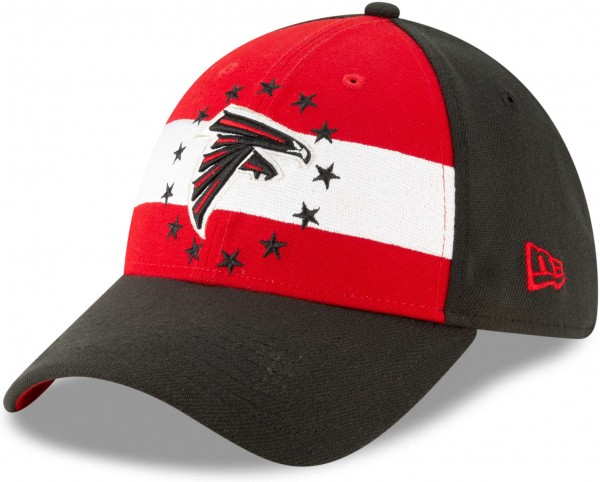 New Era - NFL Atlanta Falcons Draft 2019 On-Stage 39Thirty Stretch Cap - Schwarz Ansicht schräg links