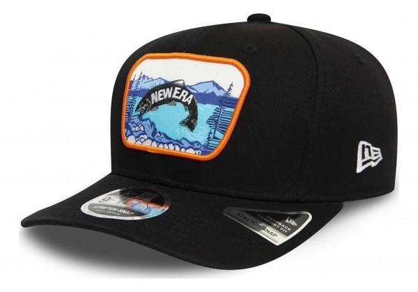 New Era - Outdoors 9Fifty Stretch Snapback Cap - Schwarz Ansicht vorne schräg rechts