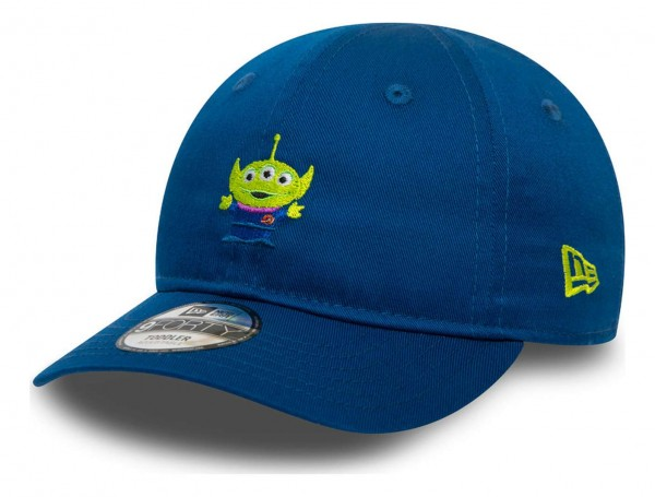 New Era - Disney Toy Story Small Logo Alien 9Forty Toddler Strapback Cap - Blau Ansicht vorne schräg links