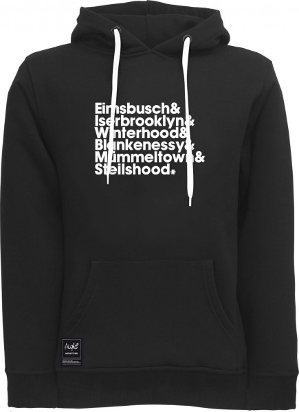 Aight* - HH-Districts V2 Hoodie - black-white