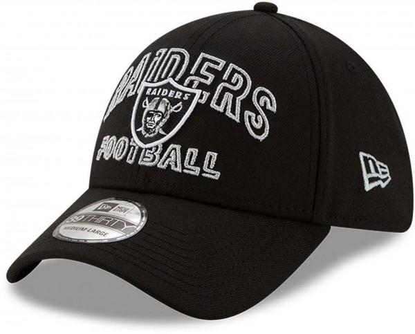 New Era - NFL Las Vegas Raiders 2020 Draft Alternative 39Thirty Stretch Cap - Schwarz Ansicht vorne schräg links