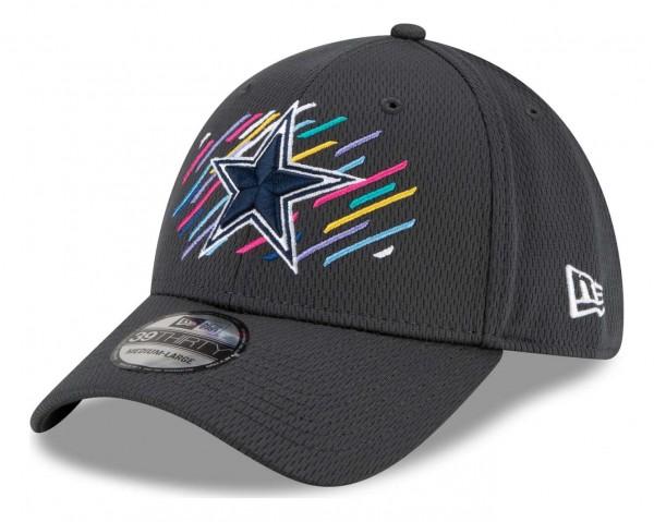 New Era - NFL Dallas Cowboys 2021 Crucial Catch 39Thirty - Grau Ansicht vorne schräg links