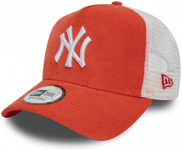 New Era - MLB New York Yankees Cord Brights Trucker Cap - Rot Ansicht vorderseite