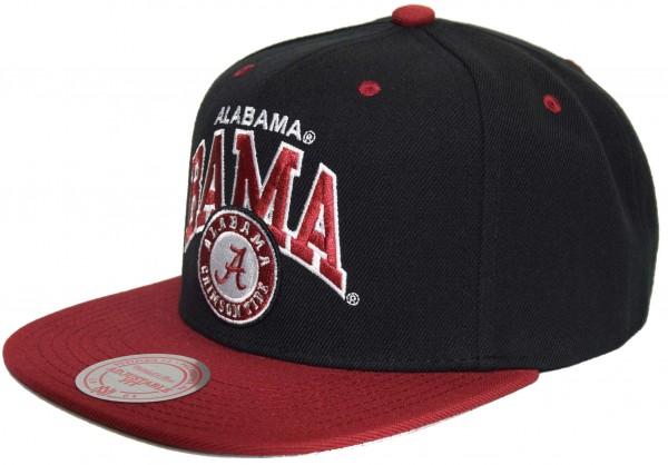 Mitchell & Ness - NCAA Alabama Crimson Tide Team Arch Snapback Cap - Schwarz Ansicht vorne links