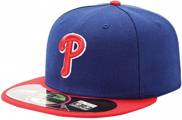 New Era - MLB Philadelphia Phillies Authentic On-Field 59Fifty Cap - blue-red