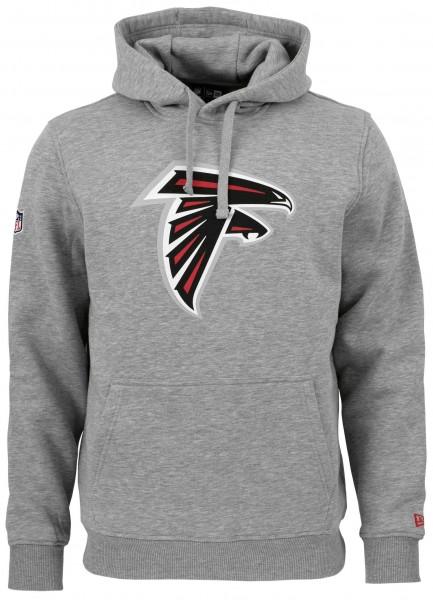 New Era NFL Atlanta Falcons Team Logo Hoodie in der Farbe hellgrau meliert Ansicht vorderseite