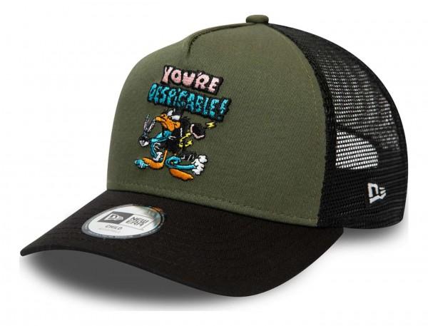 New Era - Looney Tunes Daffy Duck Character Trucker Kids Snapback Cap - Blau Ansicht vorne schräg links