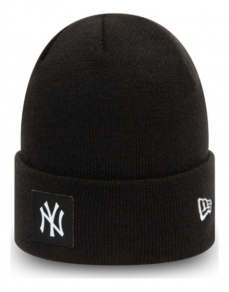 New Era - MLB New York Yankees Team Cuff Beanie - Schwarz Ansicht vorne schräg links