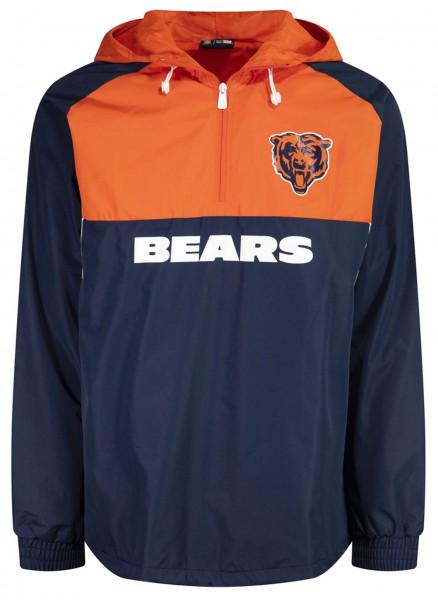 New Era - NFL Chicago Bears Colour Block Windbreaker Jacke - Blau-Orange Vorderansicht