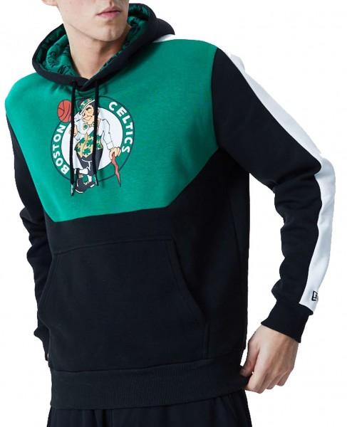 New Era - NBA Boston Celtics Colour Block Hoodie - Schwarz Vorderansicht