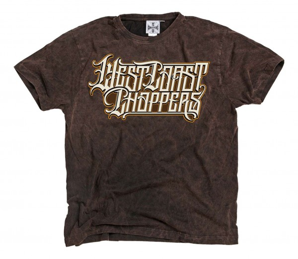 West Coast Choppers - WCC Onride T-Shirt - Braun Vorderansicht