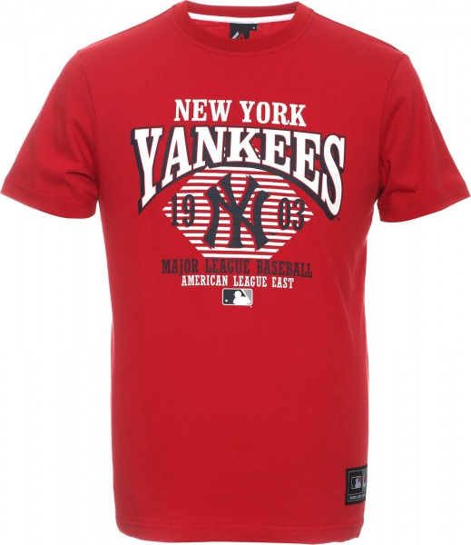Majestic Athletic - MLB New York Yankees Keats Graphic T-Shirt - Rot Vorderseite