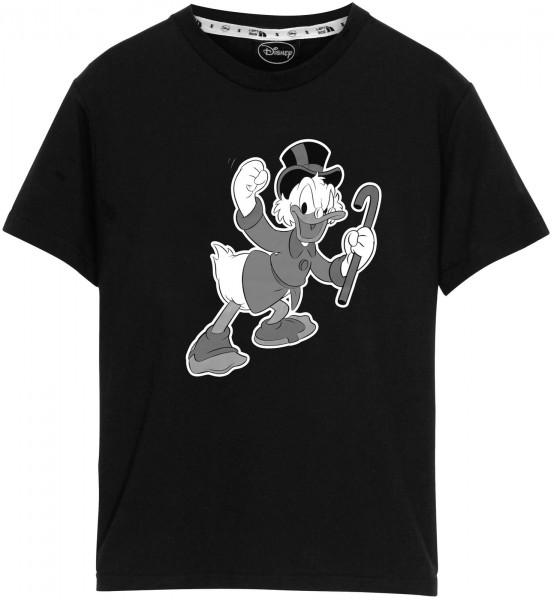 Left Side - Disney Dagobert T-Shirt - Schwarz Frontansicht