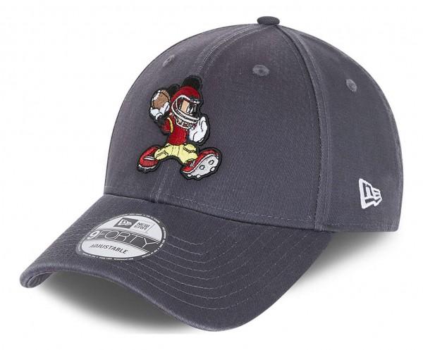 New Era - Disney Mickey Mouse Character Sports 9Forty Strapback Cap - Grau Ansicht vorne schräg links