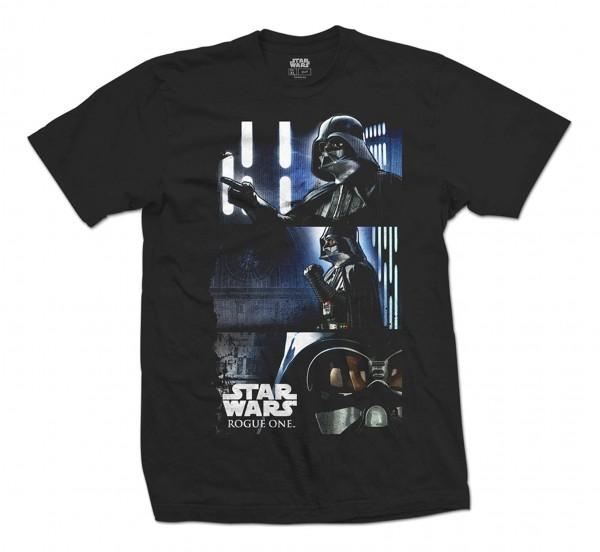 Bravado - Star Wars Rogue One Darth Triptych T-Shirt - Schwarz Vorderansicht