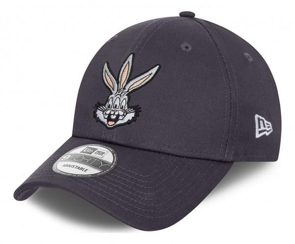 New Era - Looney Tunes Bugs Bunny 9Forty Strapback Cap - Grau Ansicht vorne schräg links