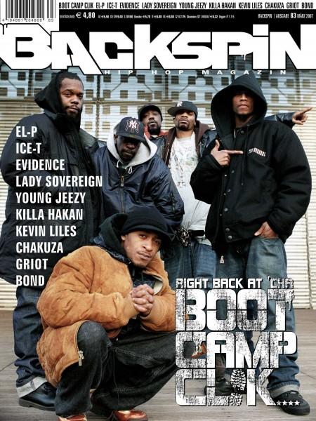 Auf dem Bild ist das Cover zu sehen der BACKSPIN Printausgabe Nummer 83