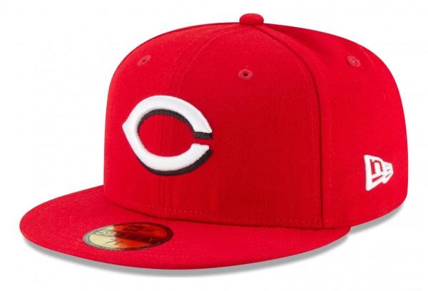 New Era - MLB Cincinnati Reds Authentic Collection Fitted Cap - Rot Ansicht vorne schräg links