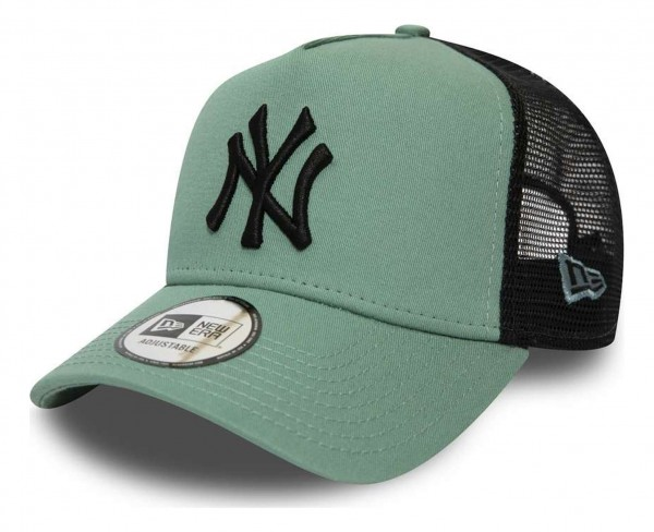 New Era - MLB New York Yankees League Essential Trucker A-Frame Snapback Cap - Grün Ansicht vorne schräg rechts