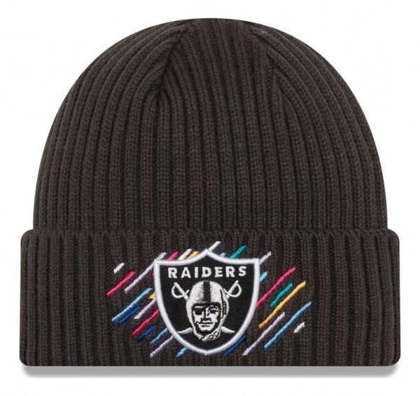 New Era - NFL Las Vegas Raiders 2021 Crucial Catch Knit - Grau Vorderansicht