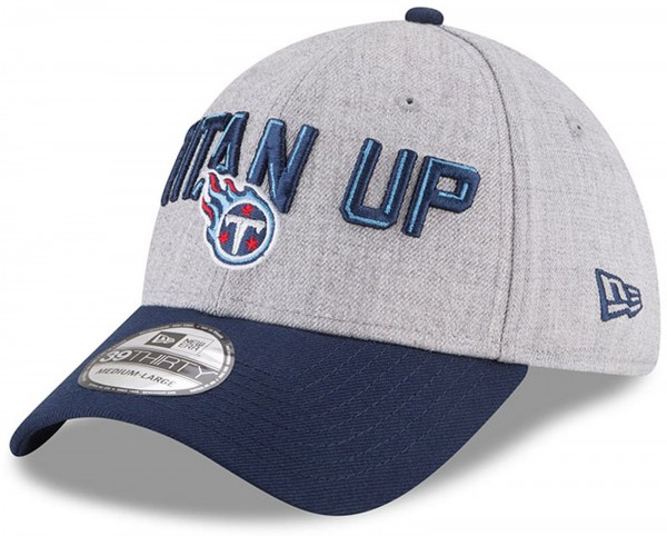 New Era - NFL Tennessee Titans Draft 2018 On Stage 39Thirty Cap - Grau-Navy