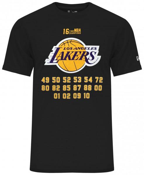 New Era - NBA Los Angeles Lakers Team Champion T-Shirt - Schwarz Vorderansicht