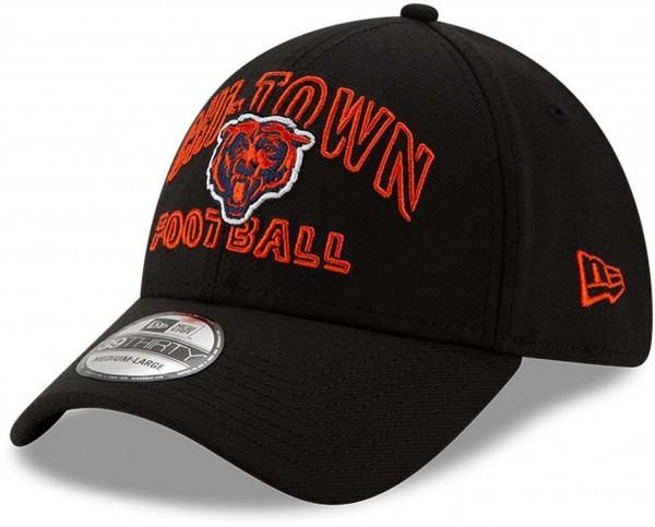 New Era - NFL Chicago Bears 2020 Draft Alternative 39Thirty Stretch Cap - Schwarz Ansicht vorne schräg links