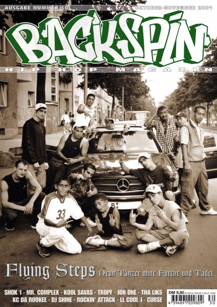 Auf dem Bild ist das Cover zu sehen der BACKSPIN Printausgabe Nummer 30