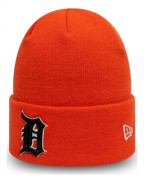 New Era - MLB Detroit Tigers League Essential Knit Cuff Beanie - Orange Ansicht vorne schräg links