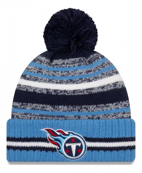New Era - NFL Tennessee Titans 2021 Sport Knit Bobble Beanie - Mehrfarbig Vorderansicht