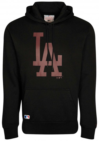 New Era - MLB Los Angeles Dodgers Seasonal Team Logo Hoodie - Schwarz