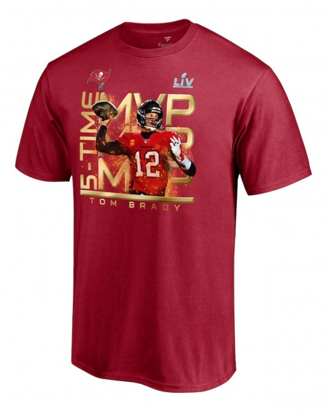 Fanatics - NFL Tampa Bay Buccaneers Super Bowl Champions MVP Graphic T-Shirt - Rot Vorderansicht