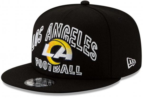 New Era - NFL Los Angeles Rams 2020 Draft Alternative 9Fifty Snapback Cap - Schwarz Ansicht vorne schräg links