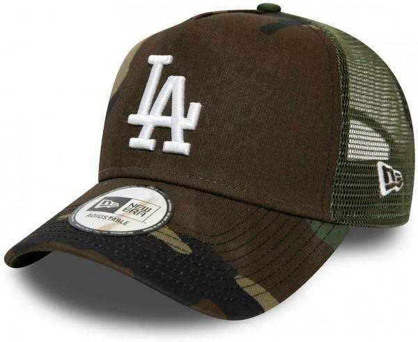 New Era - MLB Los Angeles Dodgers Essential Kids A-Frame Trucker Snapback Cap - Camouflage Ansicht vorne links