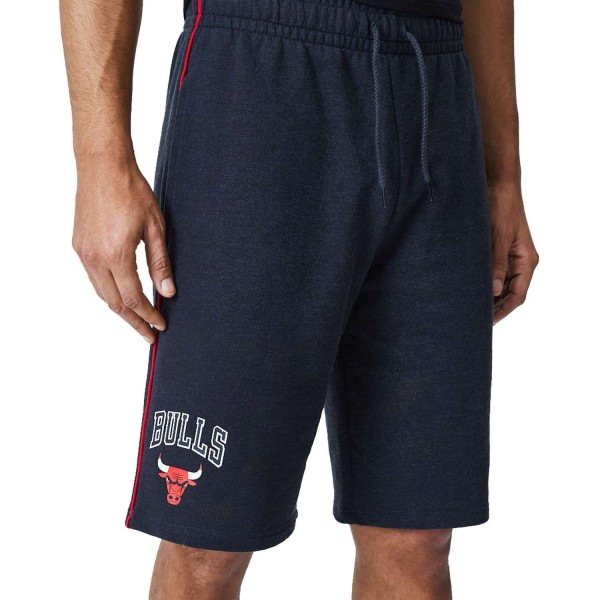 New Era - NBA Chicago Bulls Piping Short Shorts - Grau Vorderansicht