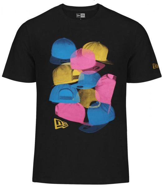 New Era - Halftone T-Shirt - black