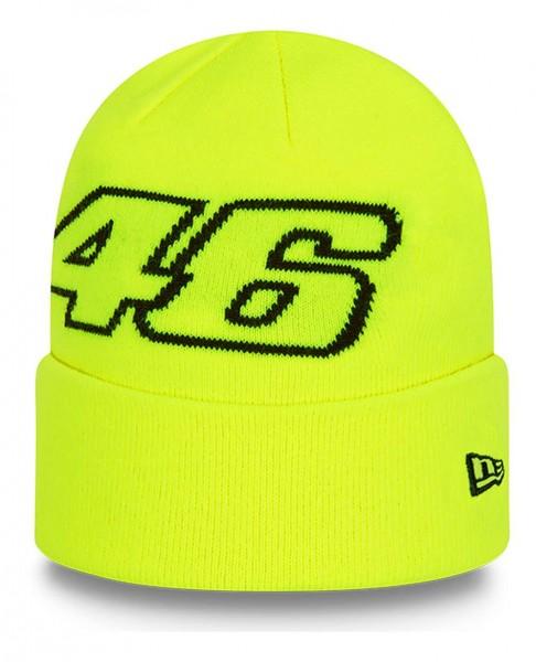 New Era - VR46 Keyline Knit Beanie - Gelb Ansicht vorne schräg links