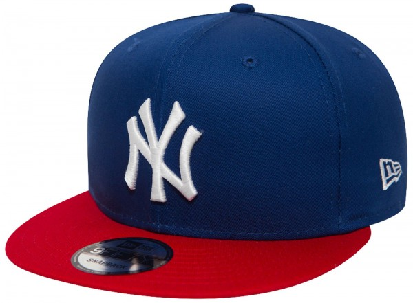 New Era - MLB New York Yankees Cotton Block 9Forty Cap - Blau-Rot