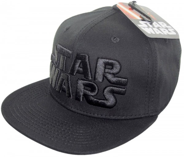 Disney - Star Wars Logo Black on Black Snapback Cap - Schwarz
