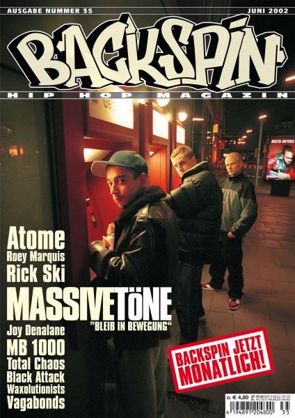 Auf dem Bild ist das Cover zu sehen der BACKSPIN Printausgabe Nummer 35