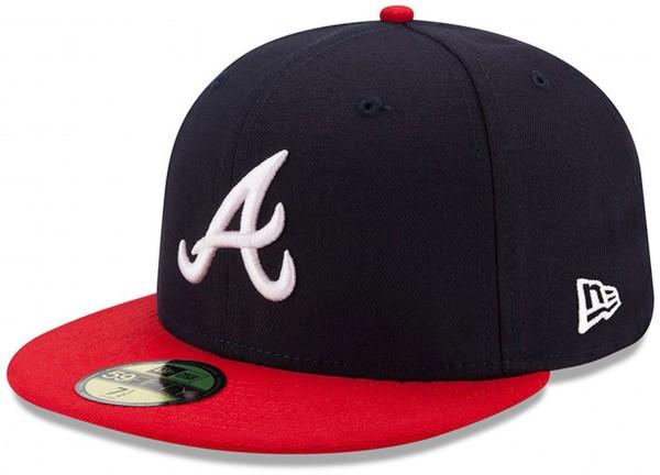 New Era - MLB Atlanta Braves Authentic Collection HM 2017 59Fifty Fitted Cap - Blau Vorderansicht schräg rechts