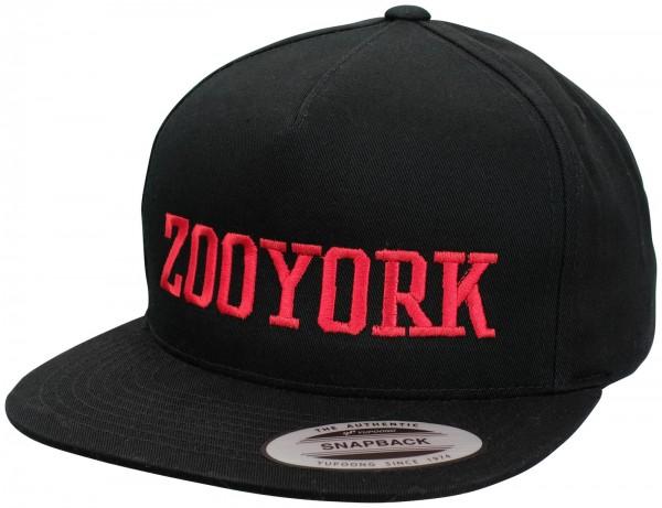 Zoo York - College Flex Fit Snapback Cap - Schwarz ansicht vorne schräg